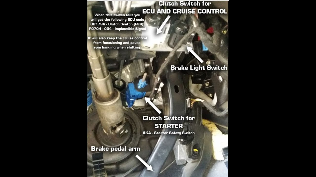 Audi A4 S4 RS4 B6 B7 Clutch Switch Replacement