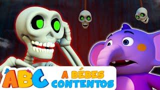 Chúmbala Cachúmbala - Las Calaveras Salen de su Tumba - Canciones de Halloween | A Bebés Contentos