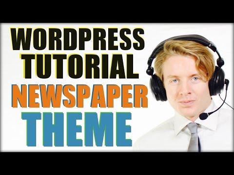Wordpress Tutorial For Beginners Step By Step 2016: Newspaper Theme 7 Tutorial