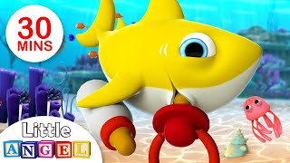 Baby Shark Compilation | Baby Shark Finger Family, Where is my Fin? | Kids Songs by Little Angel