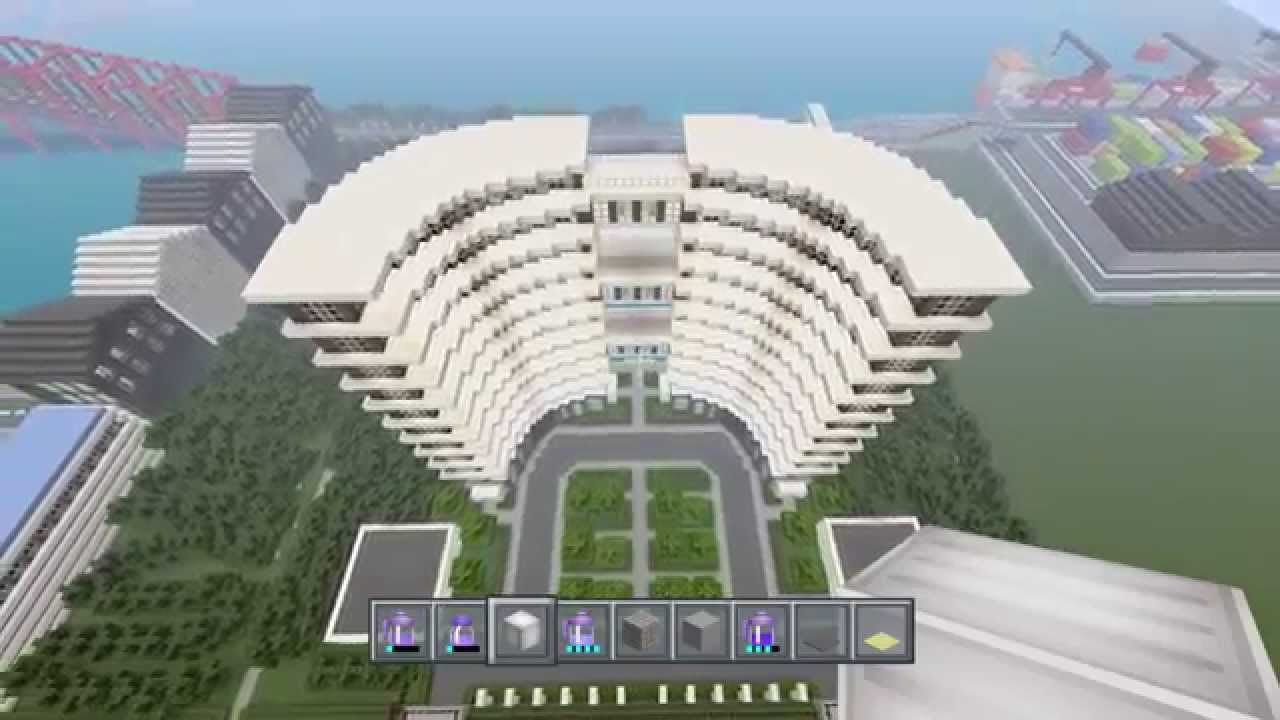 Minecraft modern hotel showcase awesome modern hotel for Modern hotel