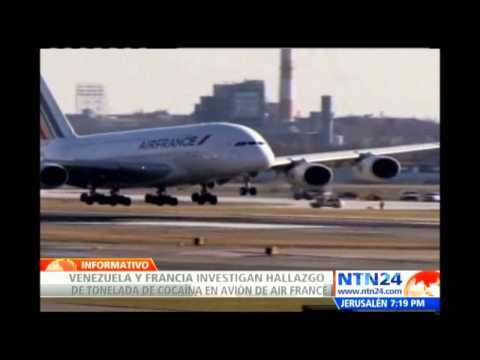 Venezuela investiga hallazgo de 1,3 toneladas de cocaína en avión que partió de Caracas a París
