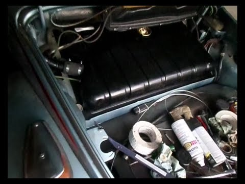 vw 73 super beetle gas tank and fuel level sender install