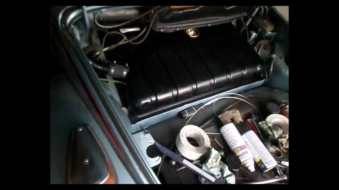vw 73 super beetle gas tank and fuel level sender install  YouTube