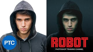 COLOR GRADING and ADDING TEXTURES to a Photo - Mr. Robot Poster in Photoshop