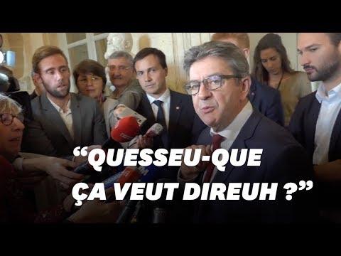 JeanLuc Mélenchon se moque de l�nt d'une journaliste