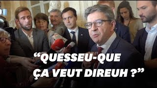 Jean-Luc Mélenchon se moque de l'accent d'une journaliste