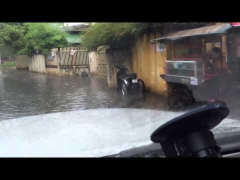 Lil' bit of rain in Phnom Penh