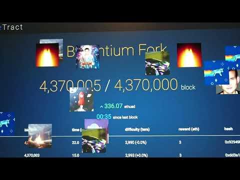 Ethereum Byzantium Fork Countdown