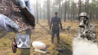Opening SEALED WW2 POUCH - Metal Detecting Eastern Front
