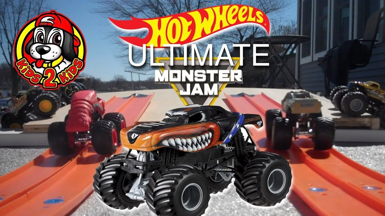 What Rhymes With Car >> Hot Wheels Ultimate Monster Jam Toy Trucks Downhill Racing ...