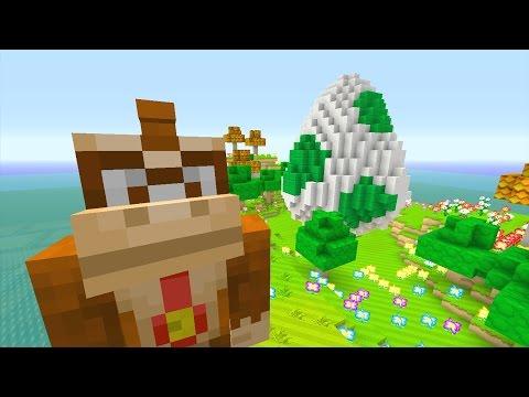 Minecraft Wii U - Super Mario PVP - Yoshi's Island W/ NitroLukeDX