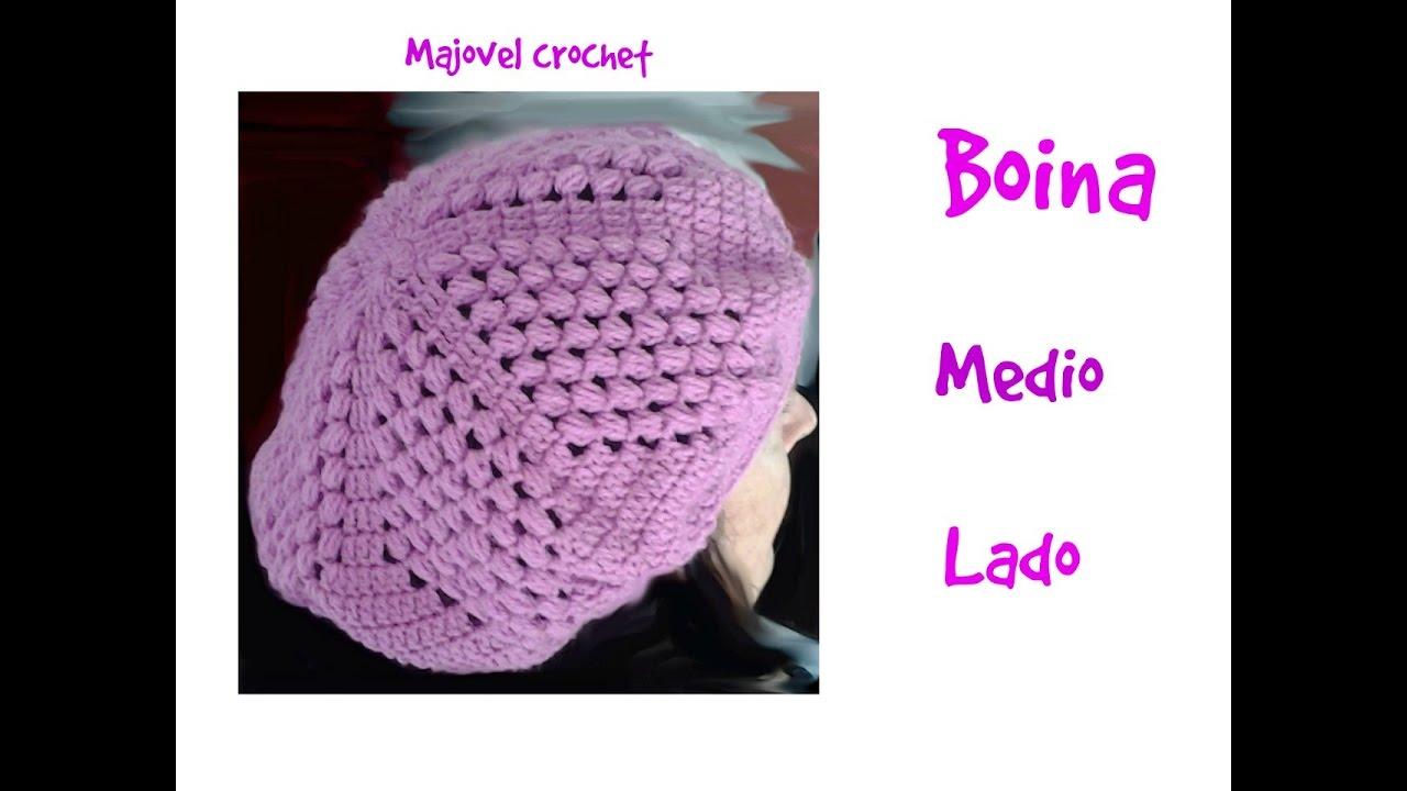 0beed786661c2 Boina o gorra caida a crochet 1ª parte - YouTube