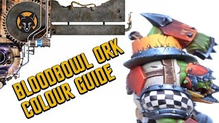 guide bloodbowl ork colour guide