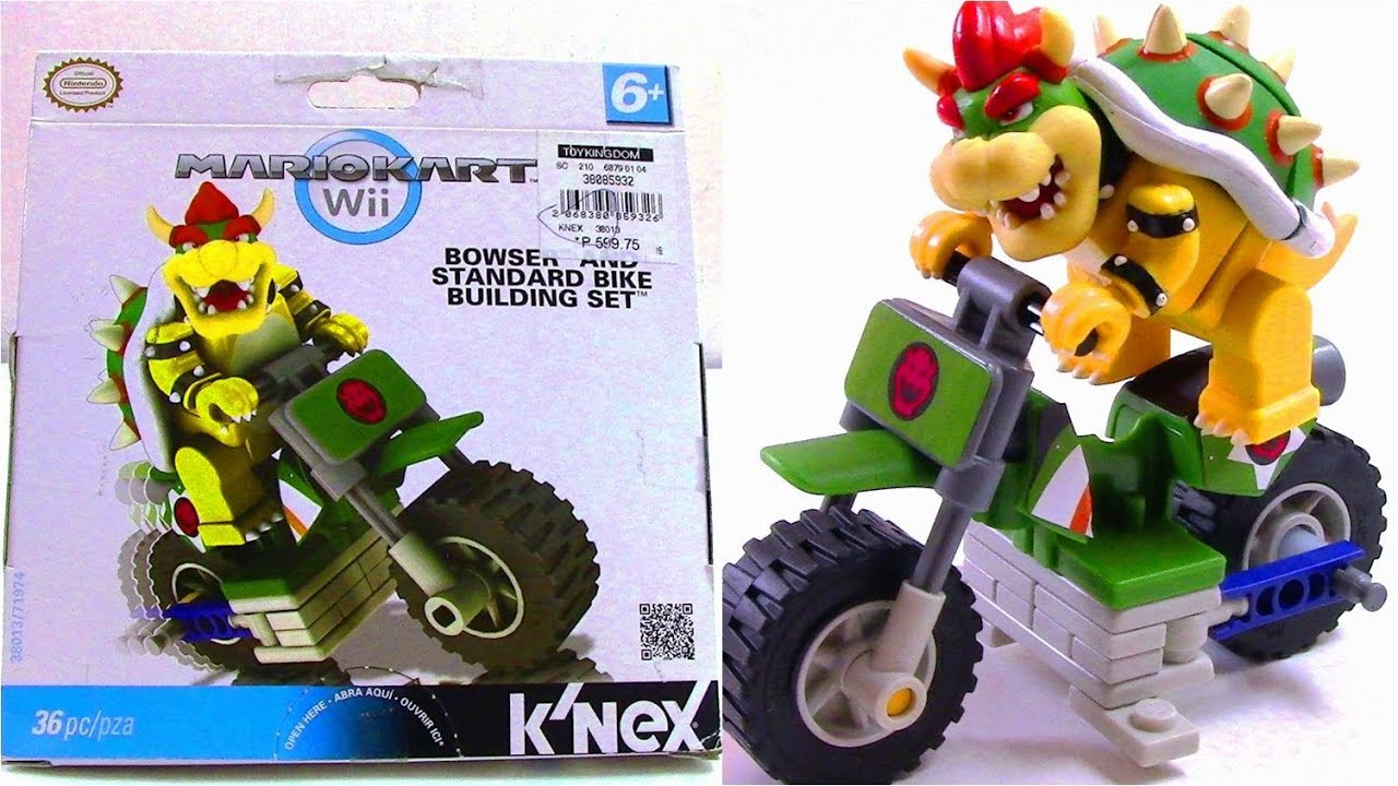 Super Mario Bros: Mario Kart Wii K'nex Bowser and Standard Bike Building Set