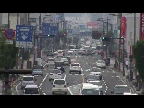 Views of Central Yonago 米子 米子市街地の風景(皆生→米子城址)(Re-encoded)