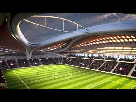 Al Wakrah Stadium CGI fly-through