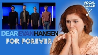 4 Evans sing FOR FOREVER I Vocal Coach Reacts!