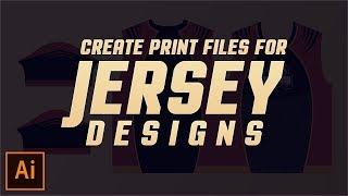 Comment Créer des Fichiers d'Impression pour le Jersey Dessins dans Illustrator CC - 2017