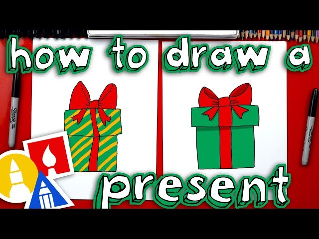 how to draw a christmas present download