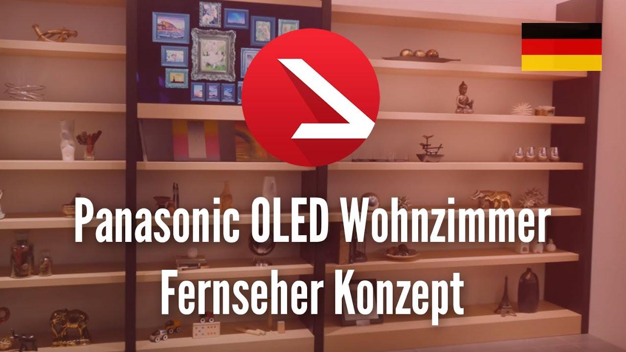 Panasonic OLED Wohnzimmer Fernseher Konzept 4K UHD