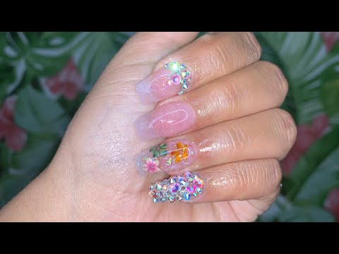 Watch Me Do My Nails | Acrylic Nails Tutorial - YouTube