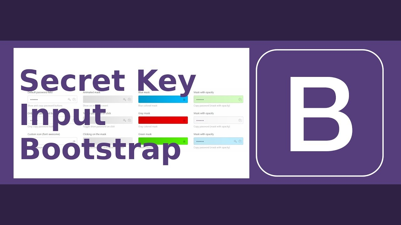 [RV] Private/Secret Key Input with Bootstrap