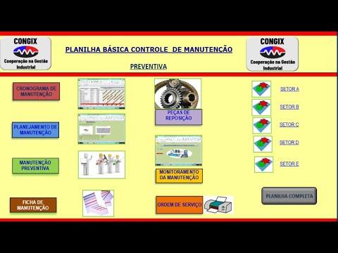 Planilha Controle de Manutenção Preventiva