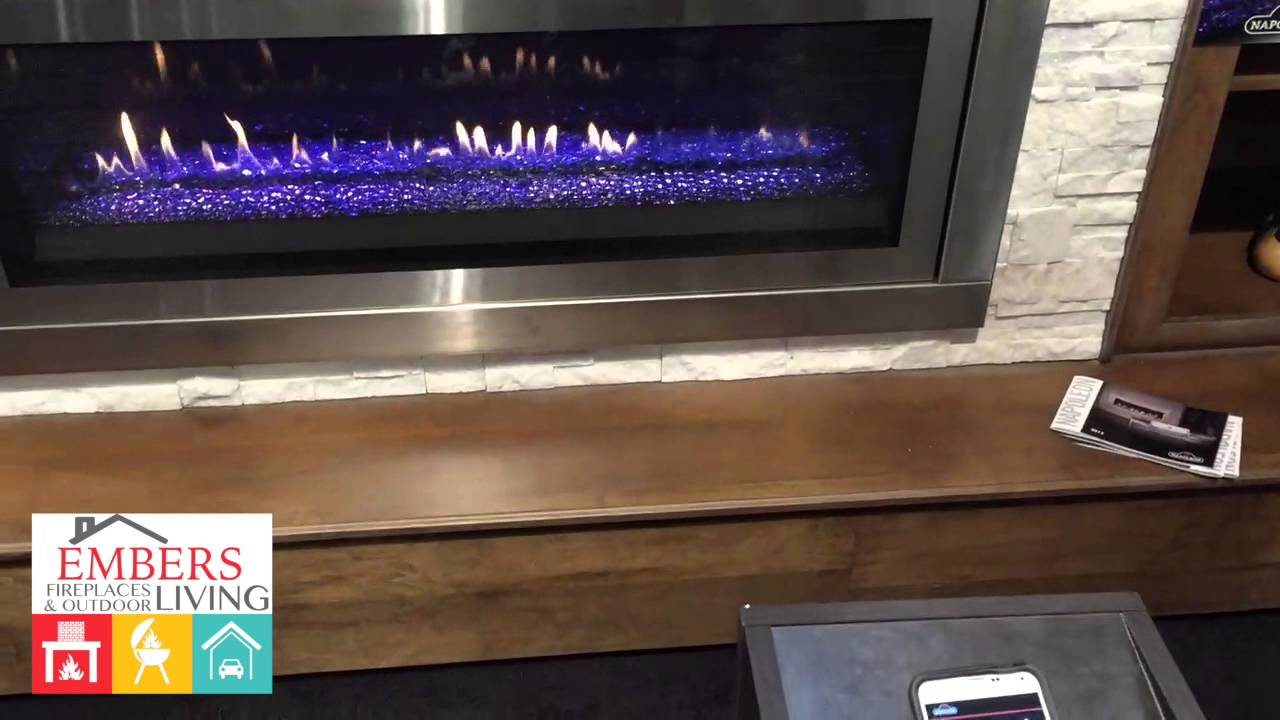 napoleon lv50 linear gas fireplace smart phone review youtube