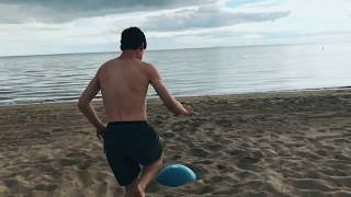 *AMAZING* flips off beach ball!  | @vetranosvideos