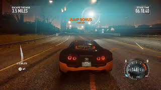 Need For Speed The Run: Bugatti Veyron 16.4 SuperSport vs Attack Helicopter