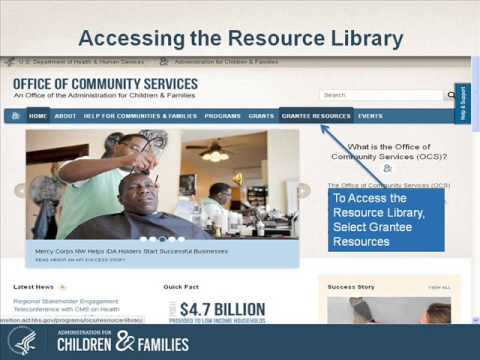 Office Of Community Services Website Tutorial