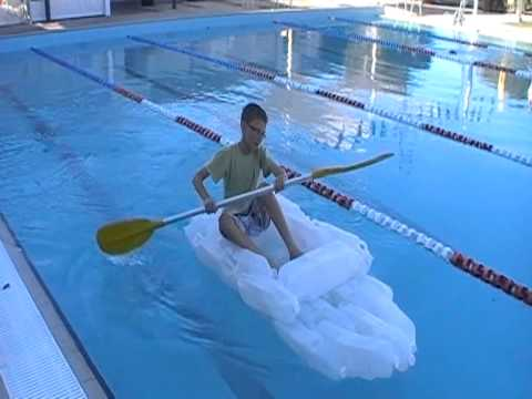 how to make a canoe from plastic bottles
