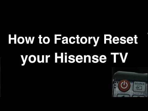 How To Factory Reset Hisense Smart TV  -  Fix It Now