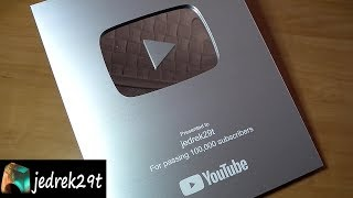 Silver Play Button Youtube 100 000 Subscriptions