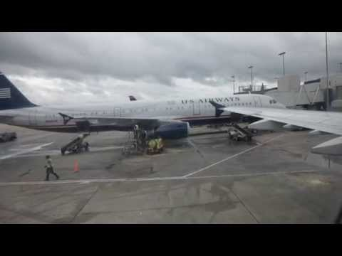 US Airways Ft Lauderdale-Charlotte Main Cabin (A321-200) video report (Apr 2014)