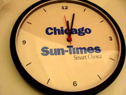 Chicago Sun Times NewsPaper Wall Clock  New