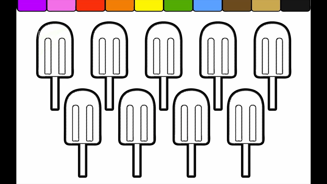 Learn Colors and Color this Fun Popsicle Coloring Page for Children ...