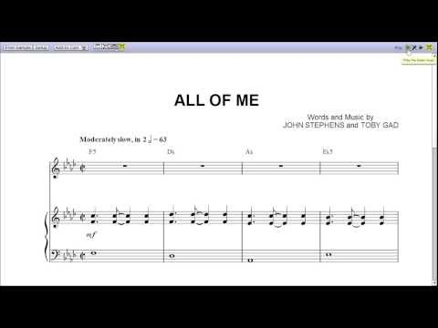 Violin violin chords for all of me : John Legend's All of Me - Piano Sheet Music [Teaser] - YouTube