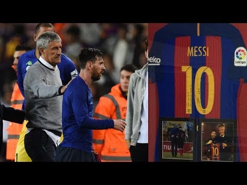 When Lionel Messi & Quique Setién Met ● 2 Performances That Impressed The Manager