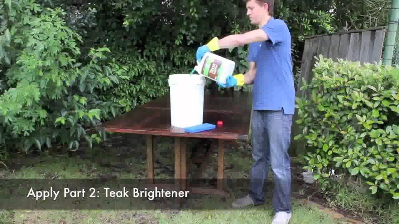 how to clean teak indoor furniture