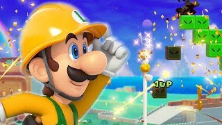 Super Mario Maker 2 - Luigi wins by doing absolutely nothing