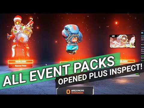 Apex Legends - Opening All The Holo-Day Bash Event Packs + Pathfinder Heirloom Inspect!!