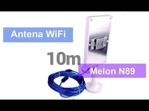 🔻🔻Adaptador WiFi USB N89 MELON Ralink 3070🔻 Antenas Wireless🔻 10 Metros Cable USB🔻Amplificado🔻
