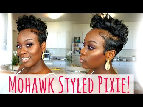 Mohawk/Faux Hawk Styled Pixie!|Easy Short Hair Tutorial!