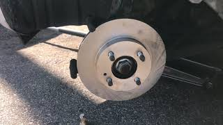 🤔2015 Mitsubishi Mirage front brake pads and rotors replacement😊