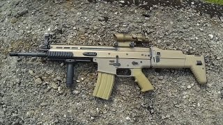 Quick overview of the airsoft gun, FN SCAR-L TAN BY-803T/SC-01T (D-...