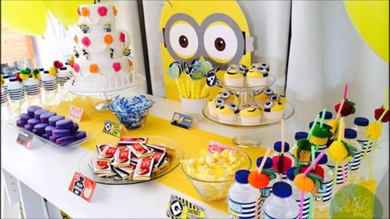 Ideas para fiesta de los minions youtube - Ideas para fiestas en casa ...