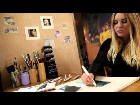 Blick Artists Serving Artists – Kristen Brown with Winsor & Newton Markers