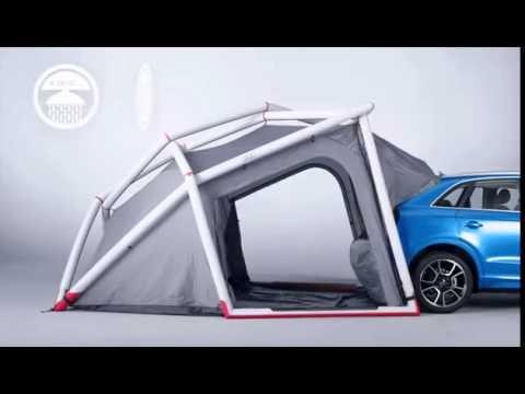 e9398246290 La tienda de campaña Audi, hinchable y acoplable al maletero - YouTube